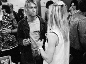 kim gordon and kurt cobain